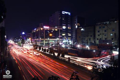 Free stock photo of city, light, night