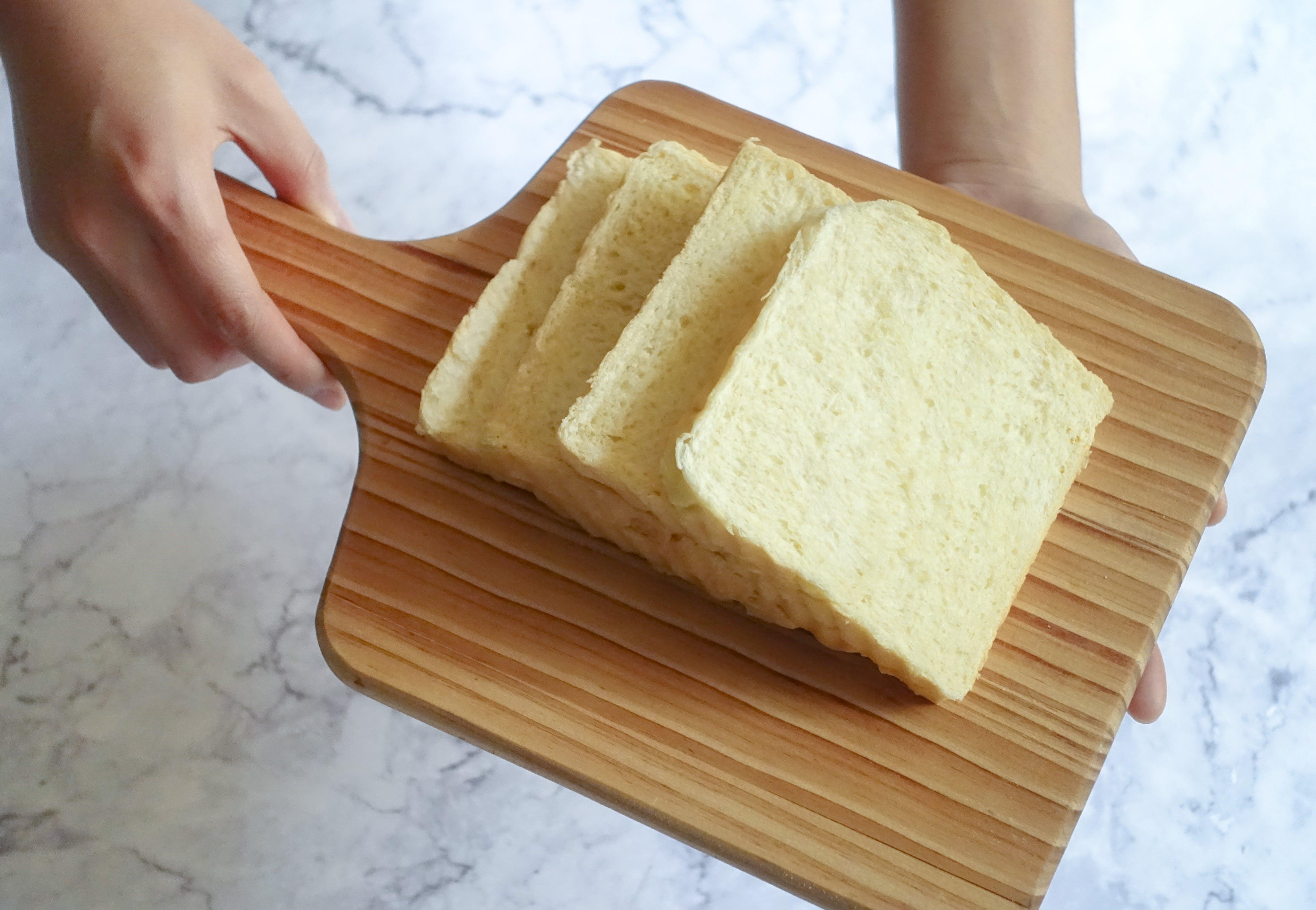 Bread on Brown Wooden Pan