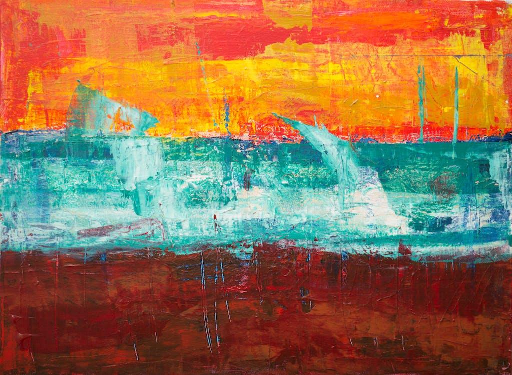 abstrakt ekspresjonisme, abstrakt maleri, akryl