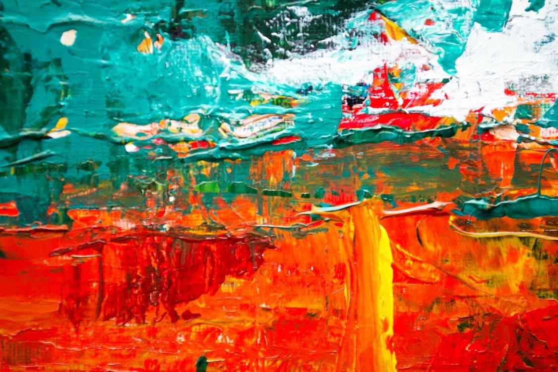 abstrakt målning, akryl, bakgrund