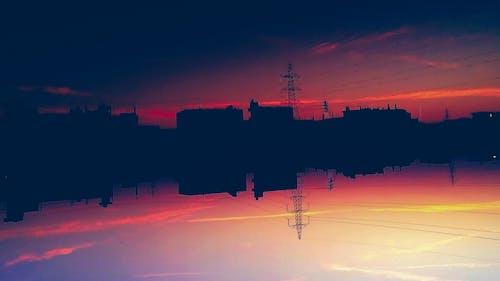 bulut oluşumu, gökyüzü, gün batımı, HD duvar kağıdı içeren Ücretsiz stok fotoğraf