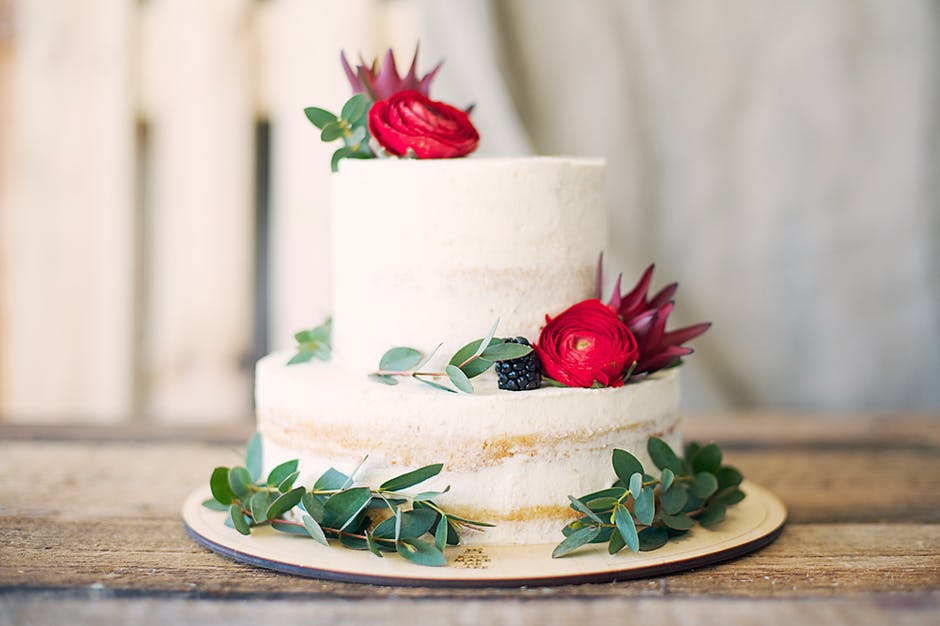Close-Up Photography of Cake With Flower Decor