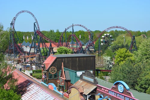 Photos gratuites de attractiepark, attractions, grand huit, slagharen