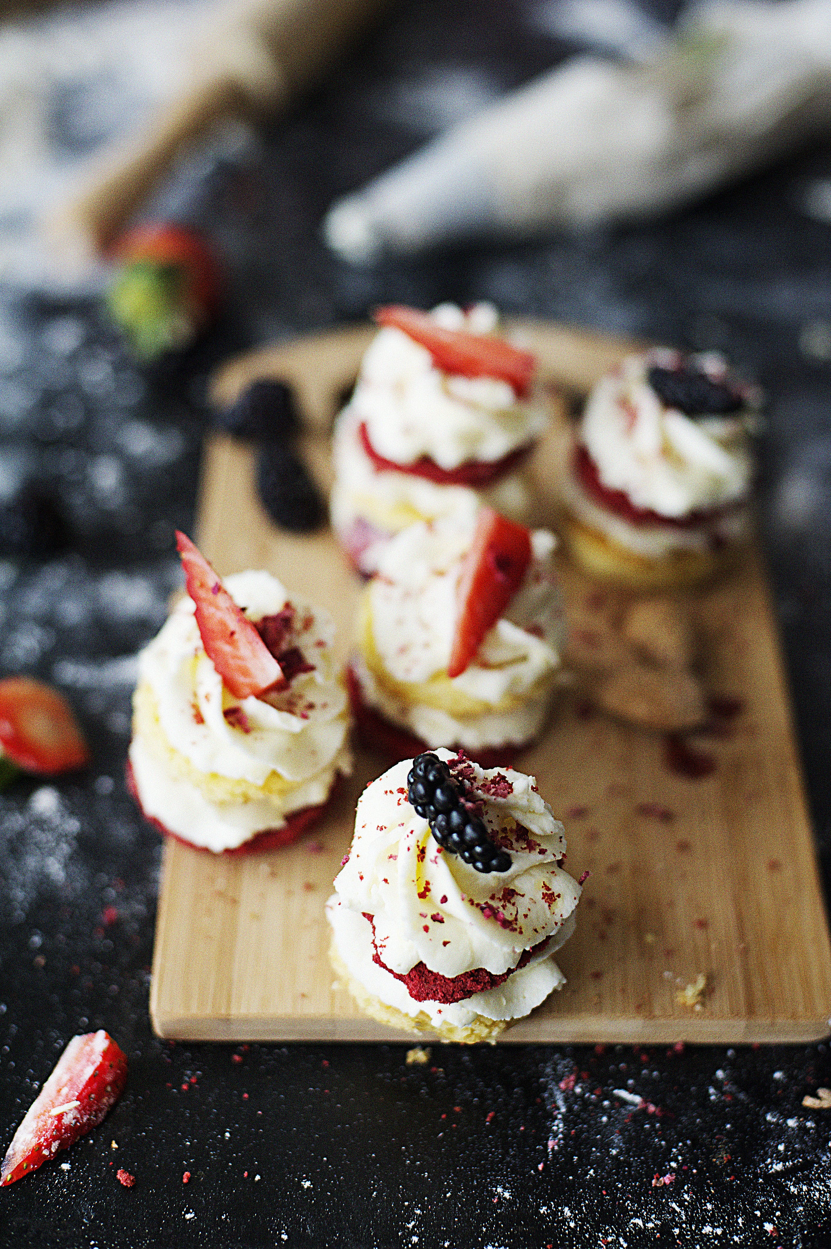 Shallow Focus Photography of Strawberry Desserts
