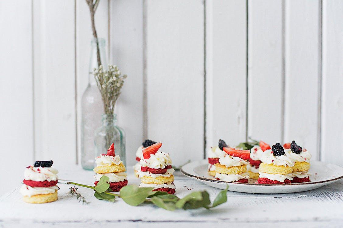 celebración, comida, crema