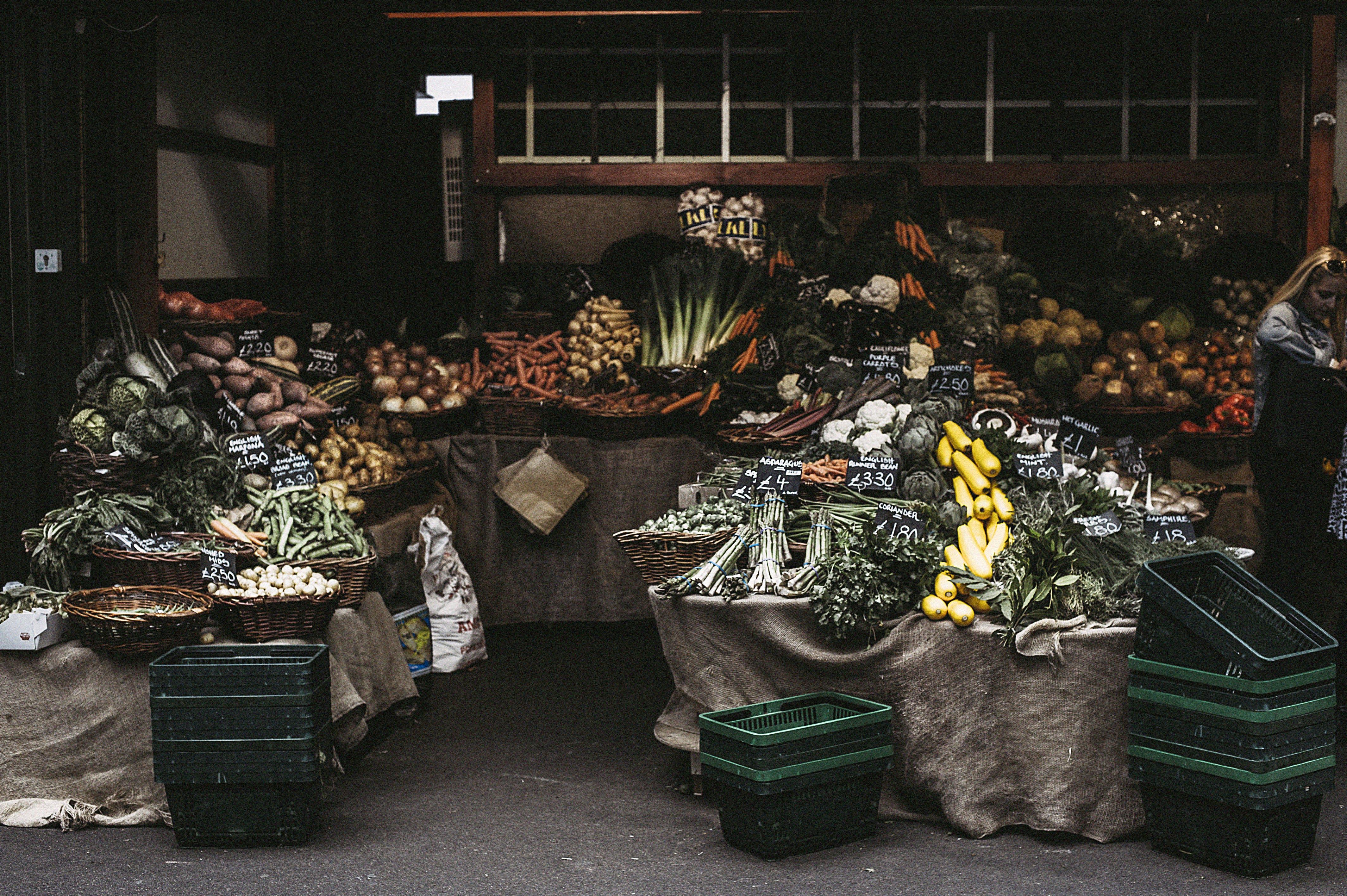 Kostenloses Stock Foto zu gemüse, geschäft, markt, stall