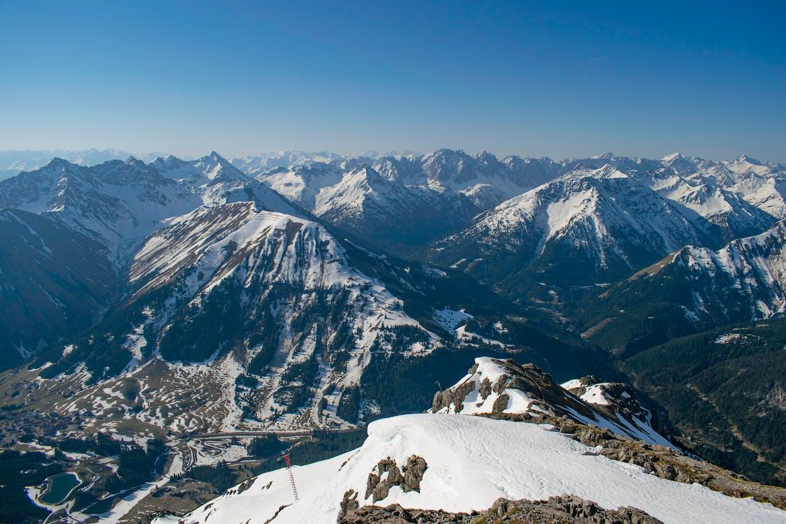 藍天, 觀點, 阿爾卑斯山