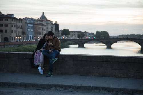 Free stock photo of couple, florence, love