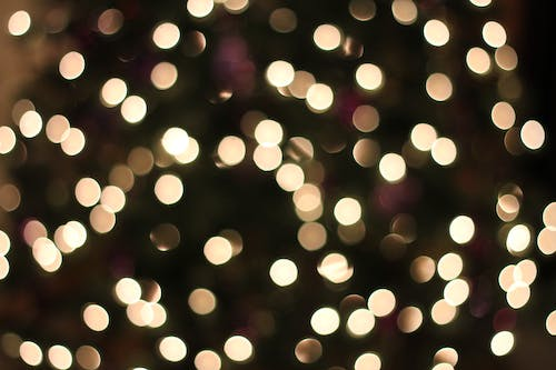 Free stock photo of christmas, light, texture, yellow lights