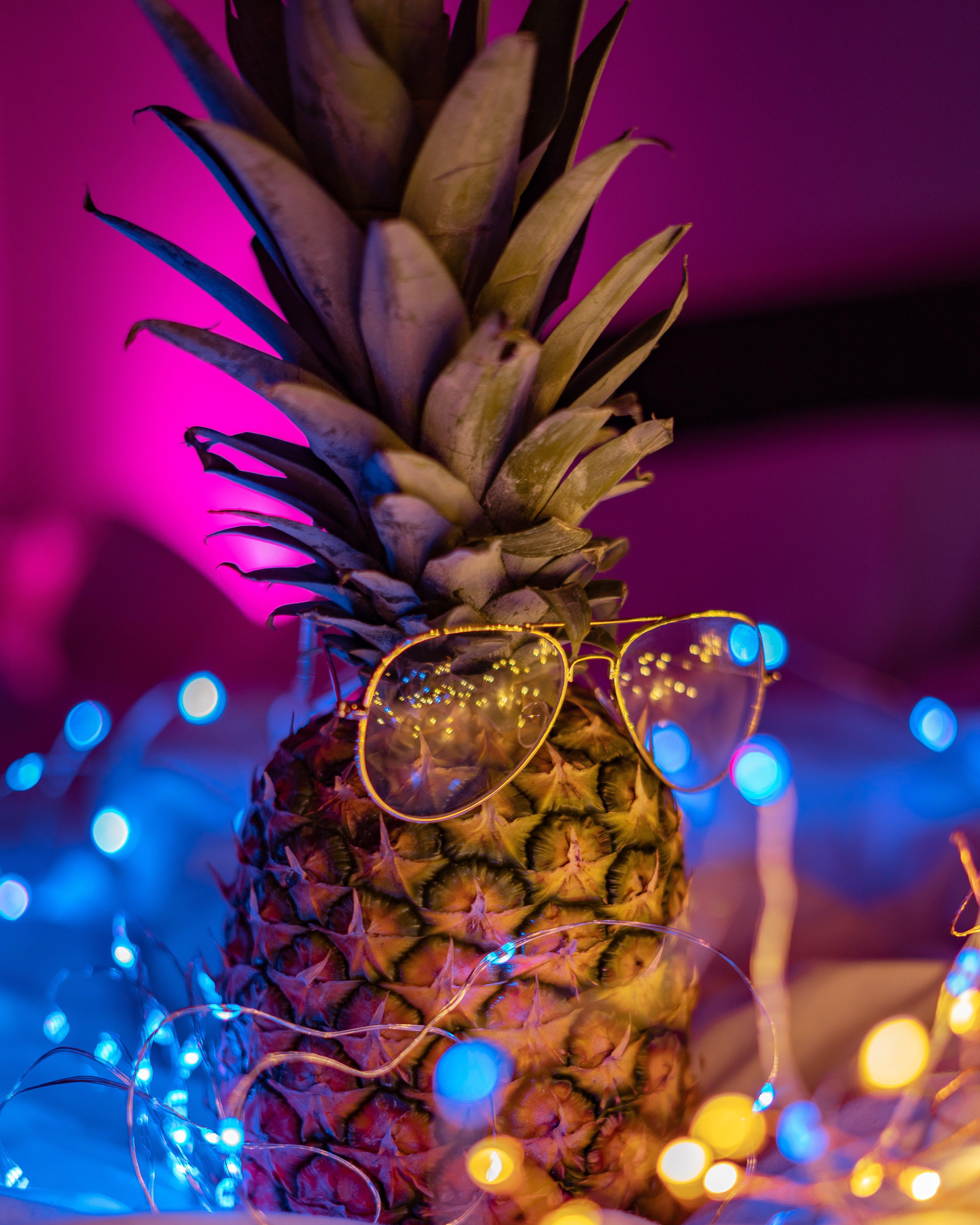 Gratis arkivbilde med ananas, bakgrunn, briller, design