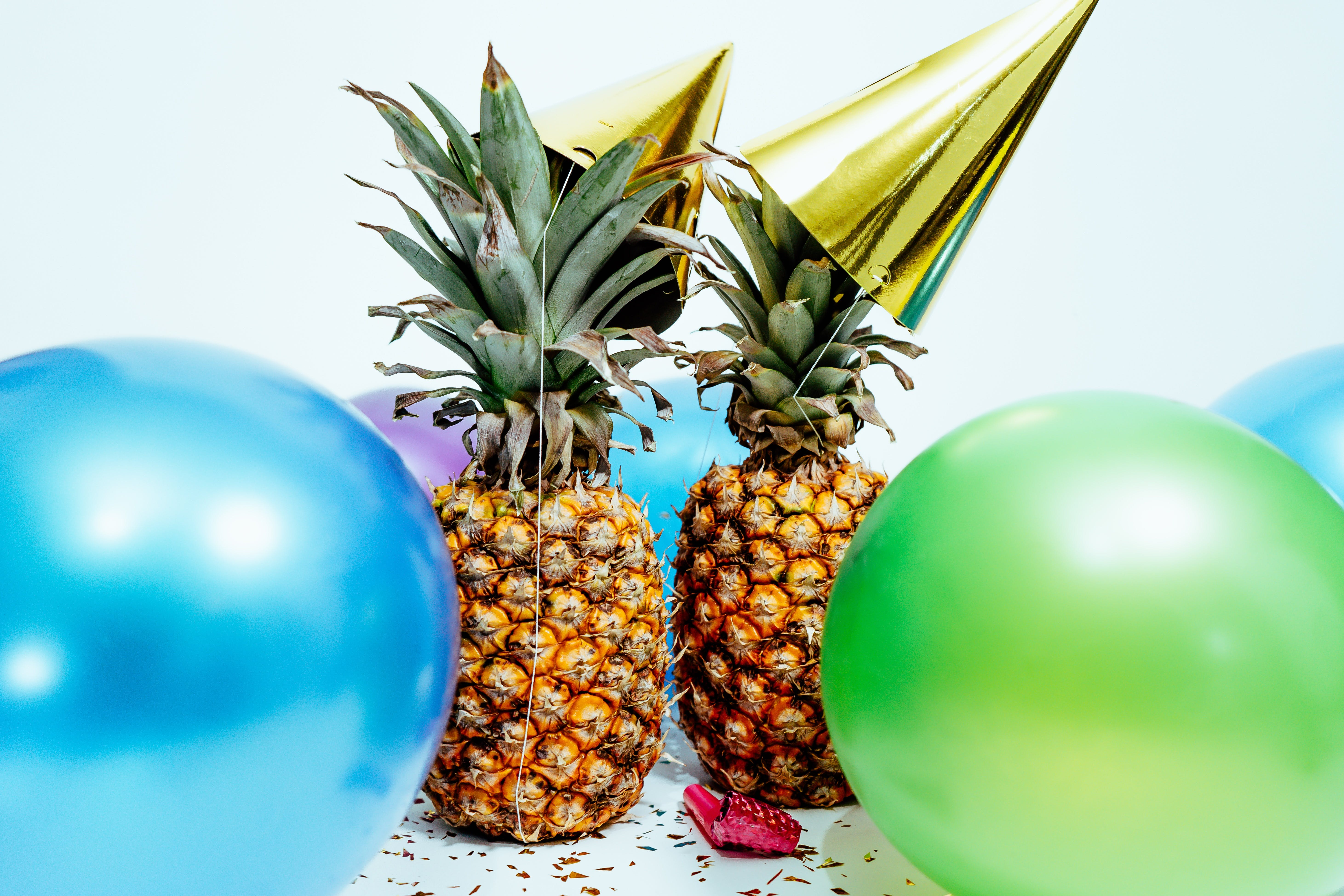 Two Pineapples And Balloons