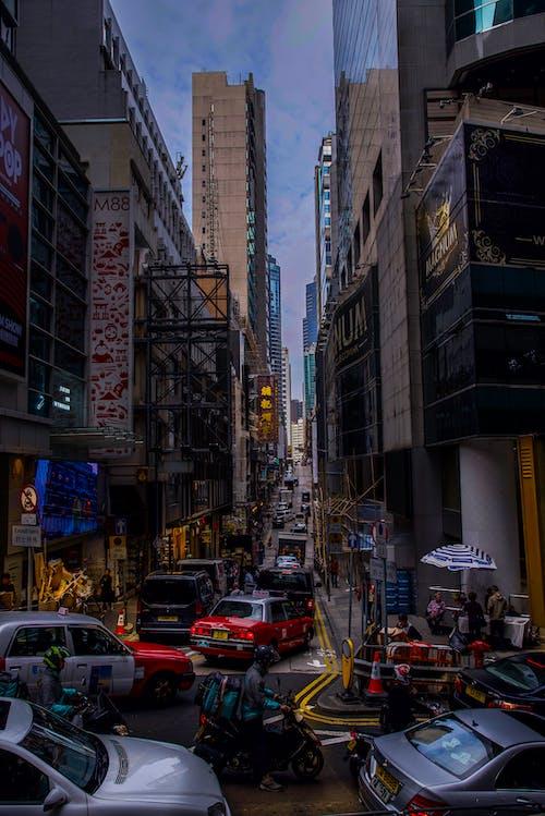 Ingyenes stockfotó hongkong, utca, utcai fotó, városra néző kilátás témában