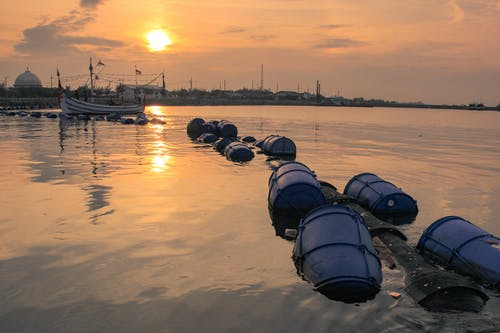 Základová fotografie zdarma na téma člun, záliv, západ slunce