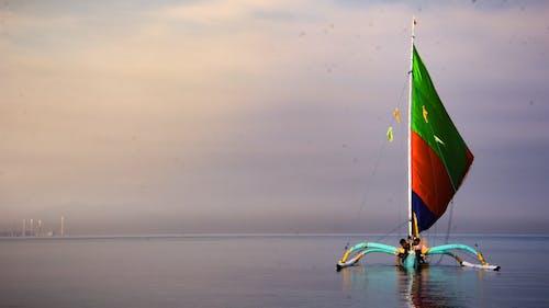 Бесплатное стоковое фото с HD-обои, лодка, морской пейзаж, обои
