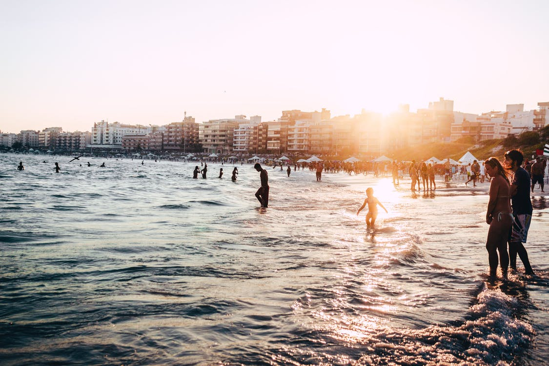biển, bình minh, bờ biển