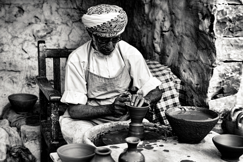 Free stock photo of #pottery #craftsmanship #b&w #Dubai #heritage