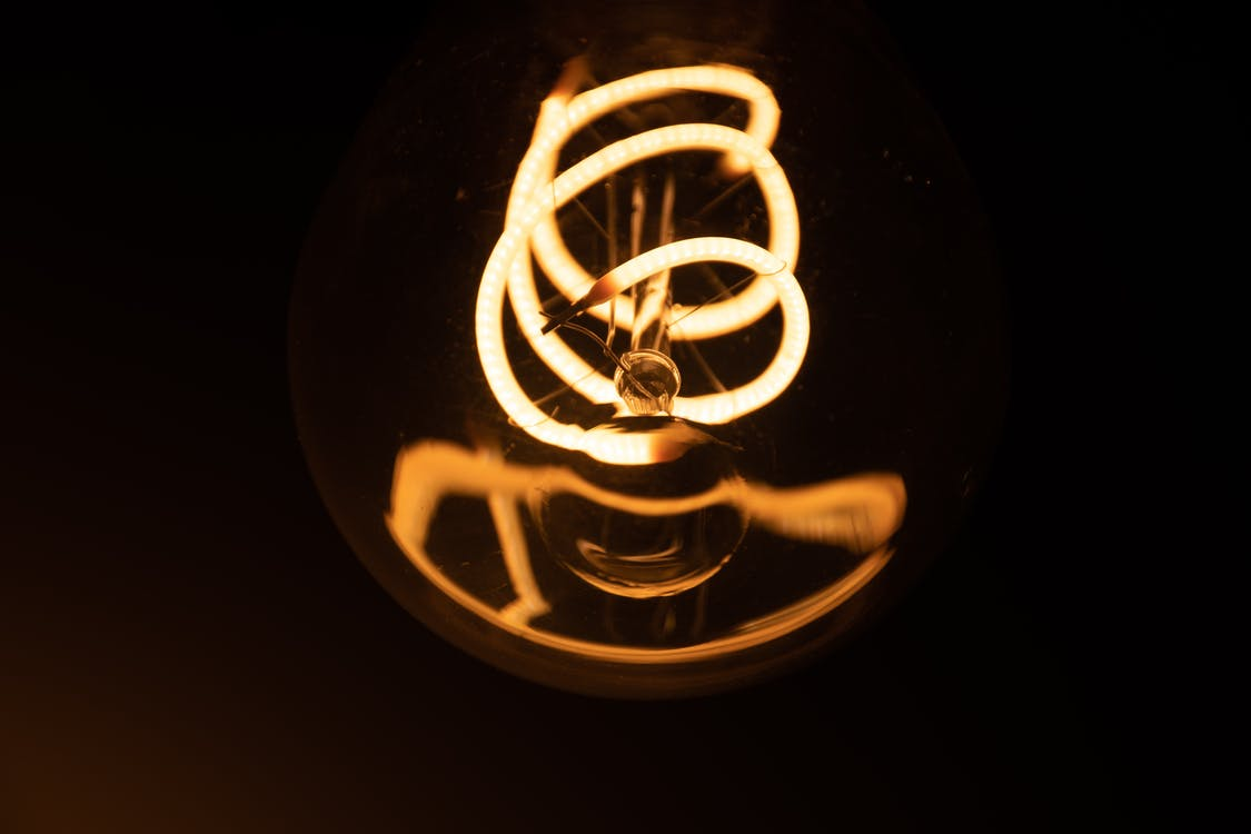 Close-Up Shot Of Light Bulb