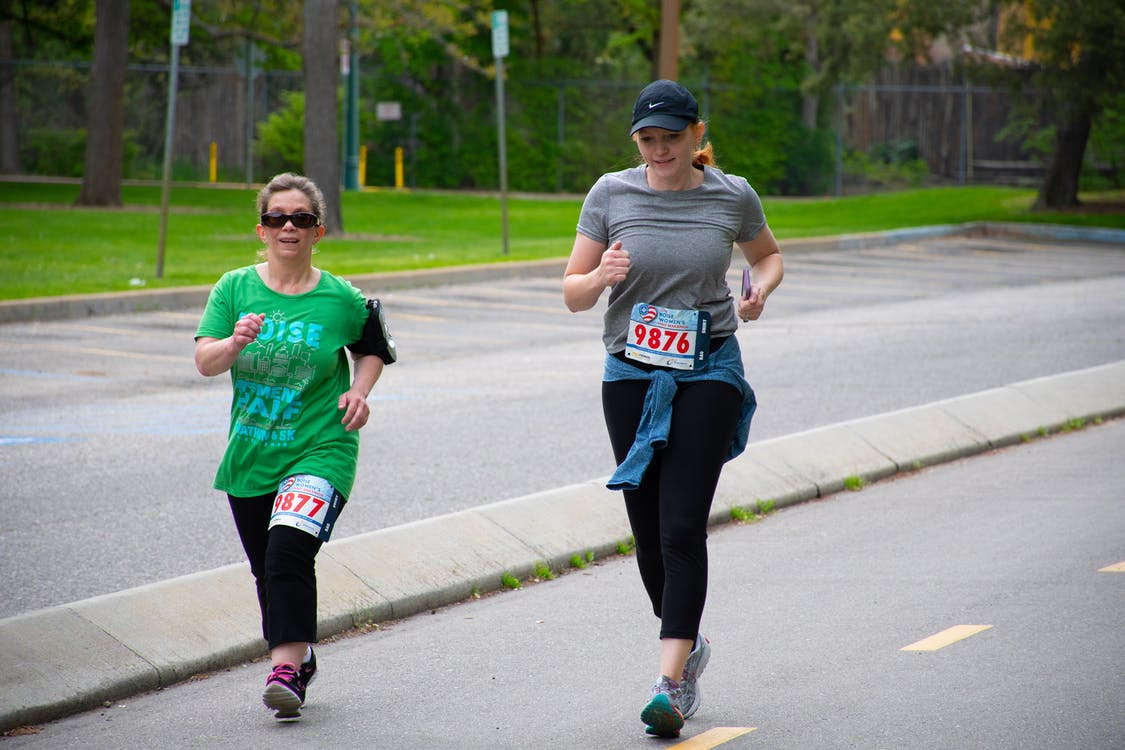 Two Women Running