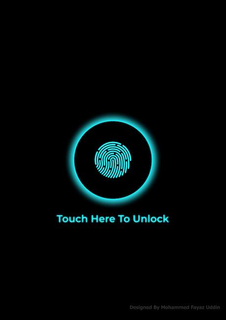android wallpaper, black wallpaper, finger unlock
