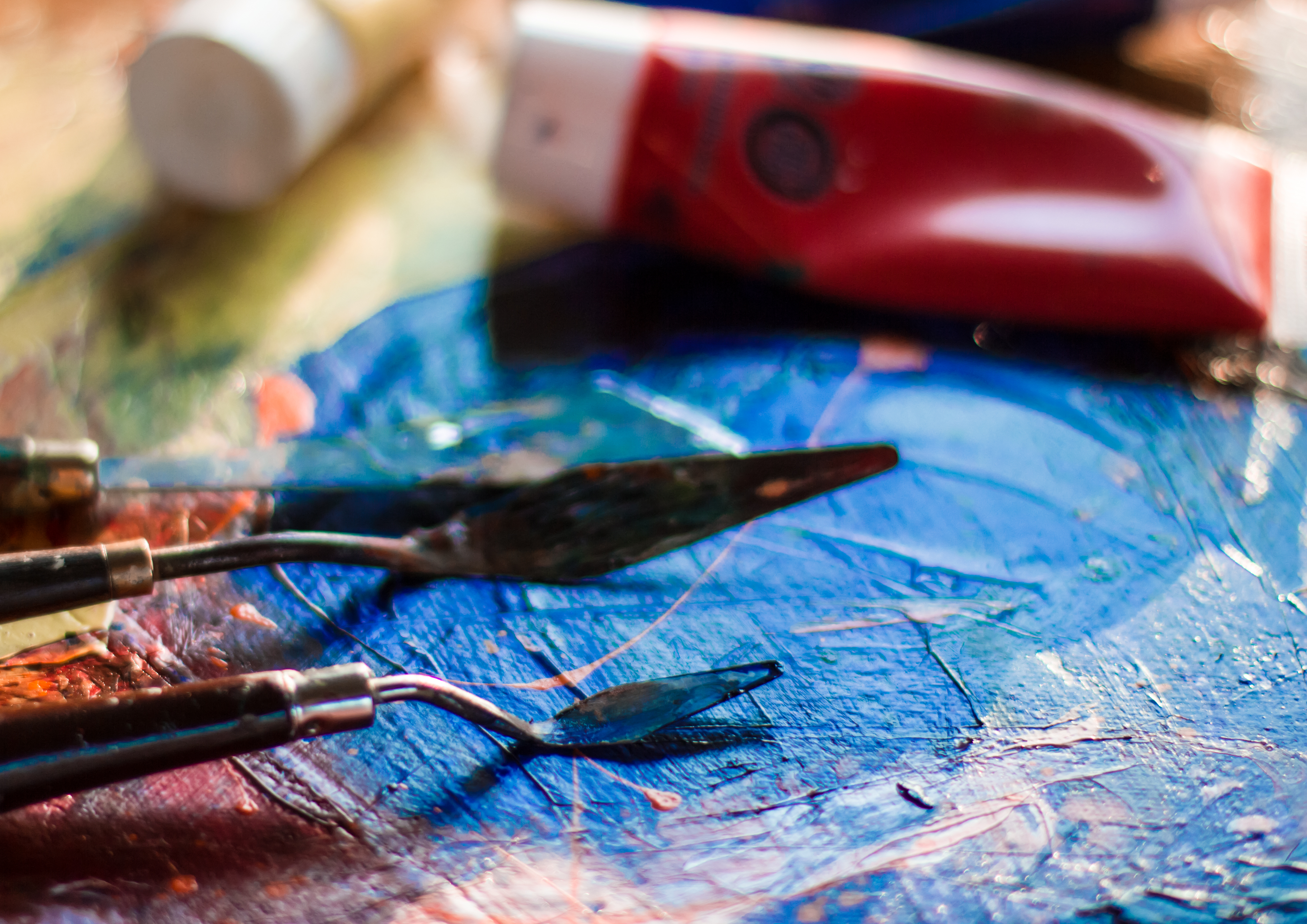 Closeup Photography of Painting Canvas Lot