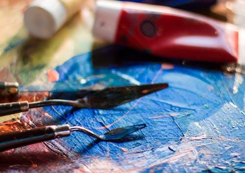 Δωρεάν στοκ φωτογραφιών με αφηρημένη ζωγραφική, δημιουργικός, εργαλεία, ζωγραφική