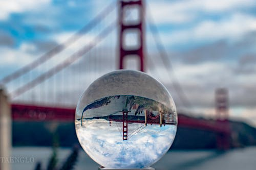 Free stock photo of beautiful, crystal ball, famous landmark, golden gate