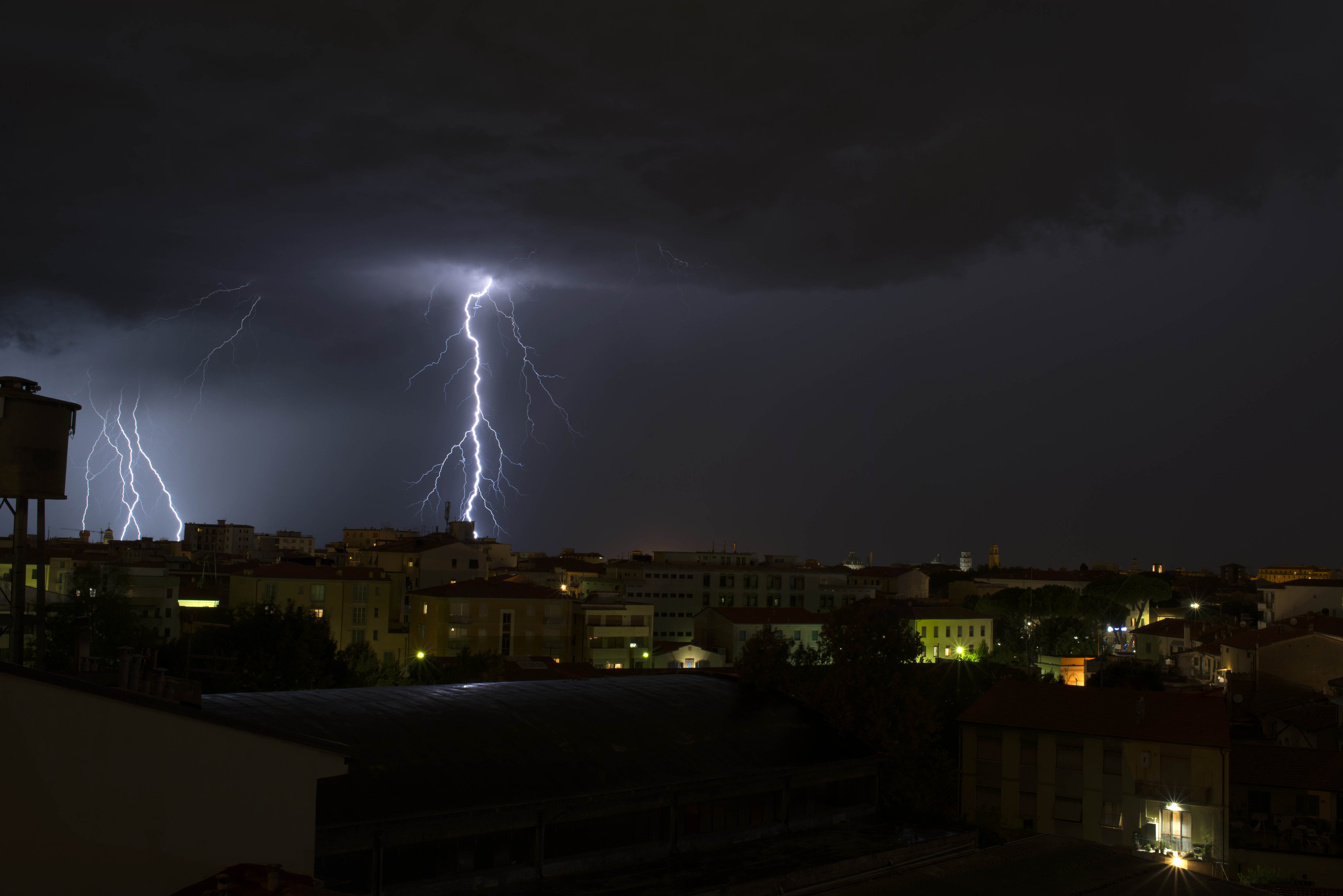 Free stock photo of lightning, lightning across the sky, night, sky