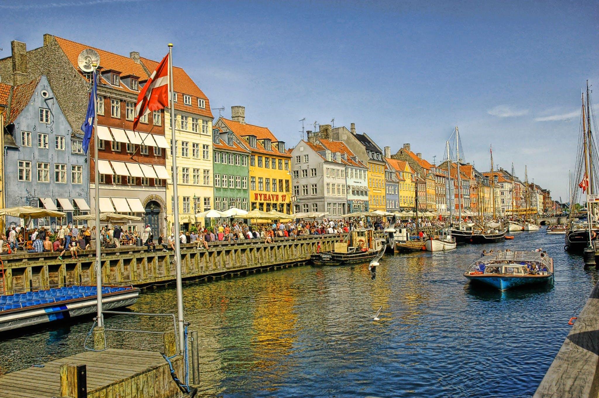 Free stock photo of boat, canal, copenhagen, denmark