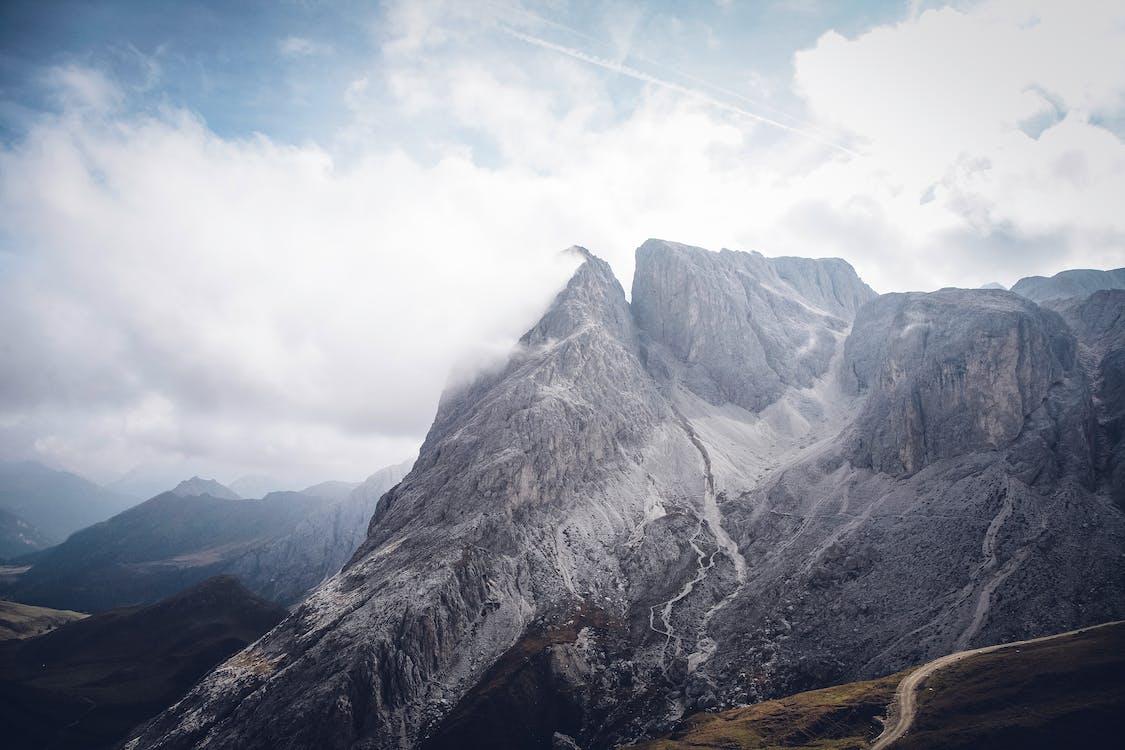 bầu trời, đá, dãy núi