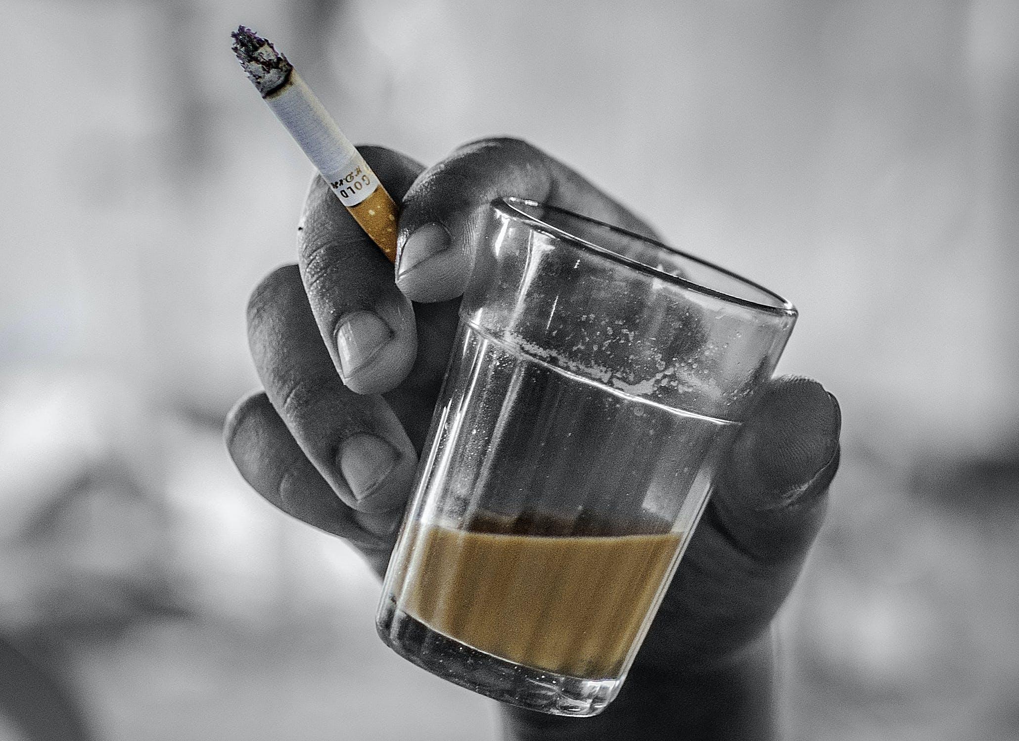 Free stock photo of chai, cigarette, colour pop, cup