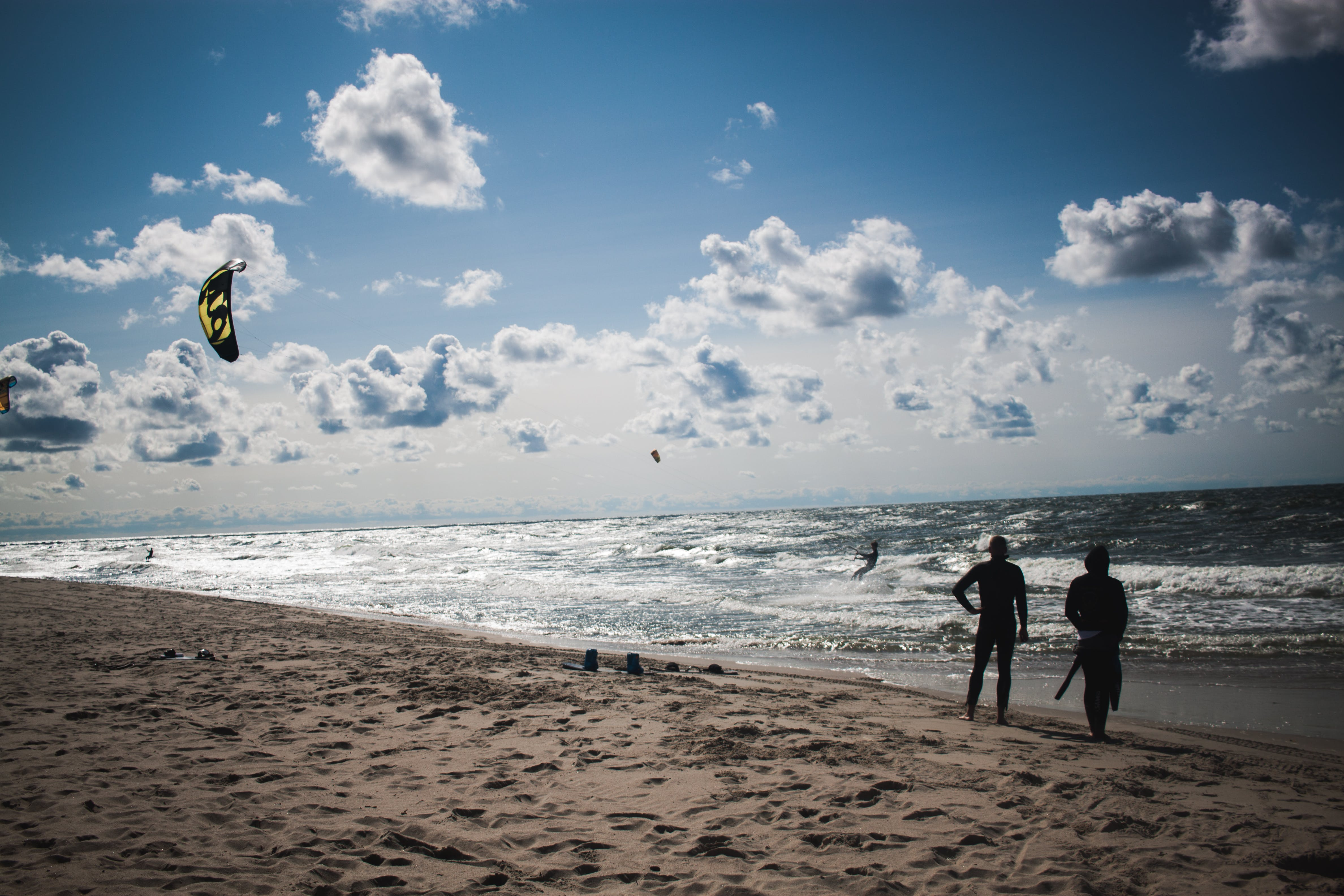 People Standing at Beach