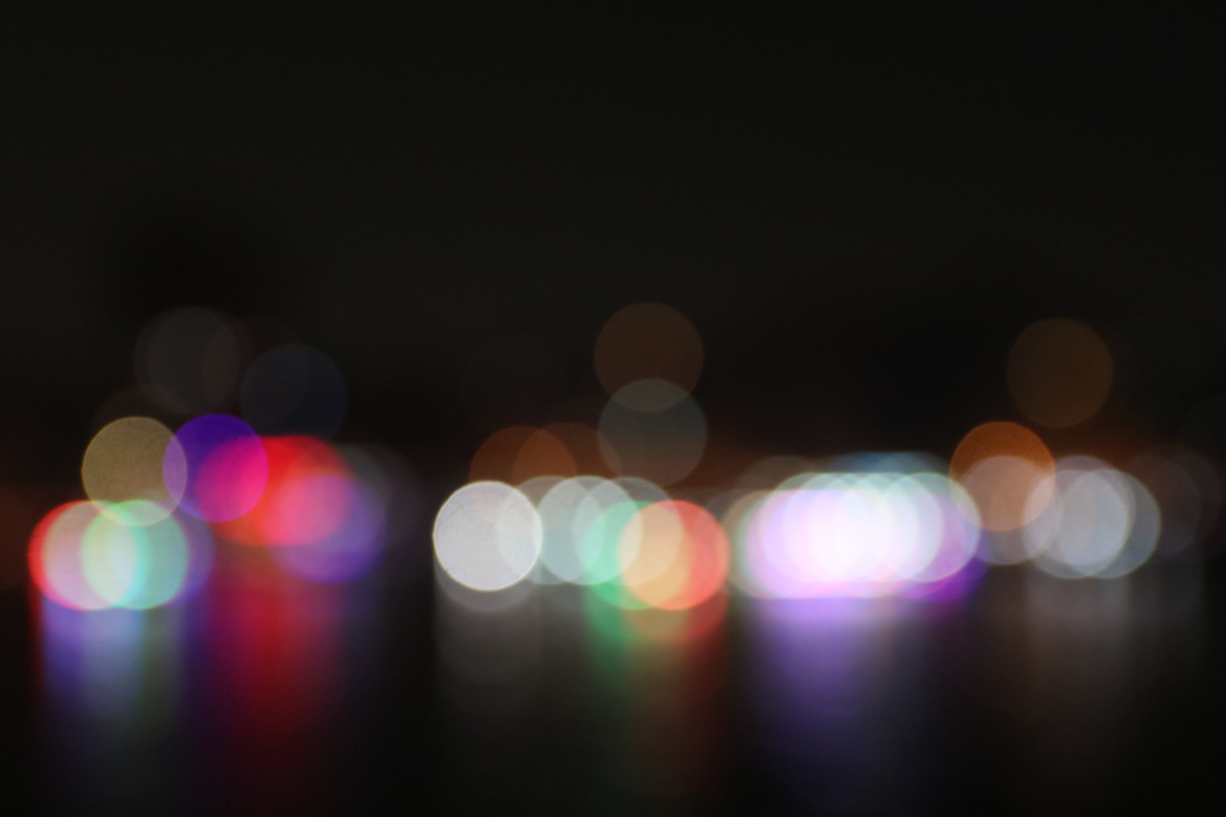 lights, night, night bokeh