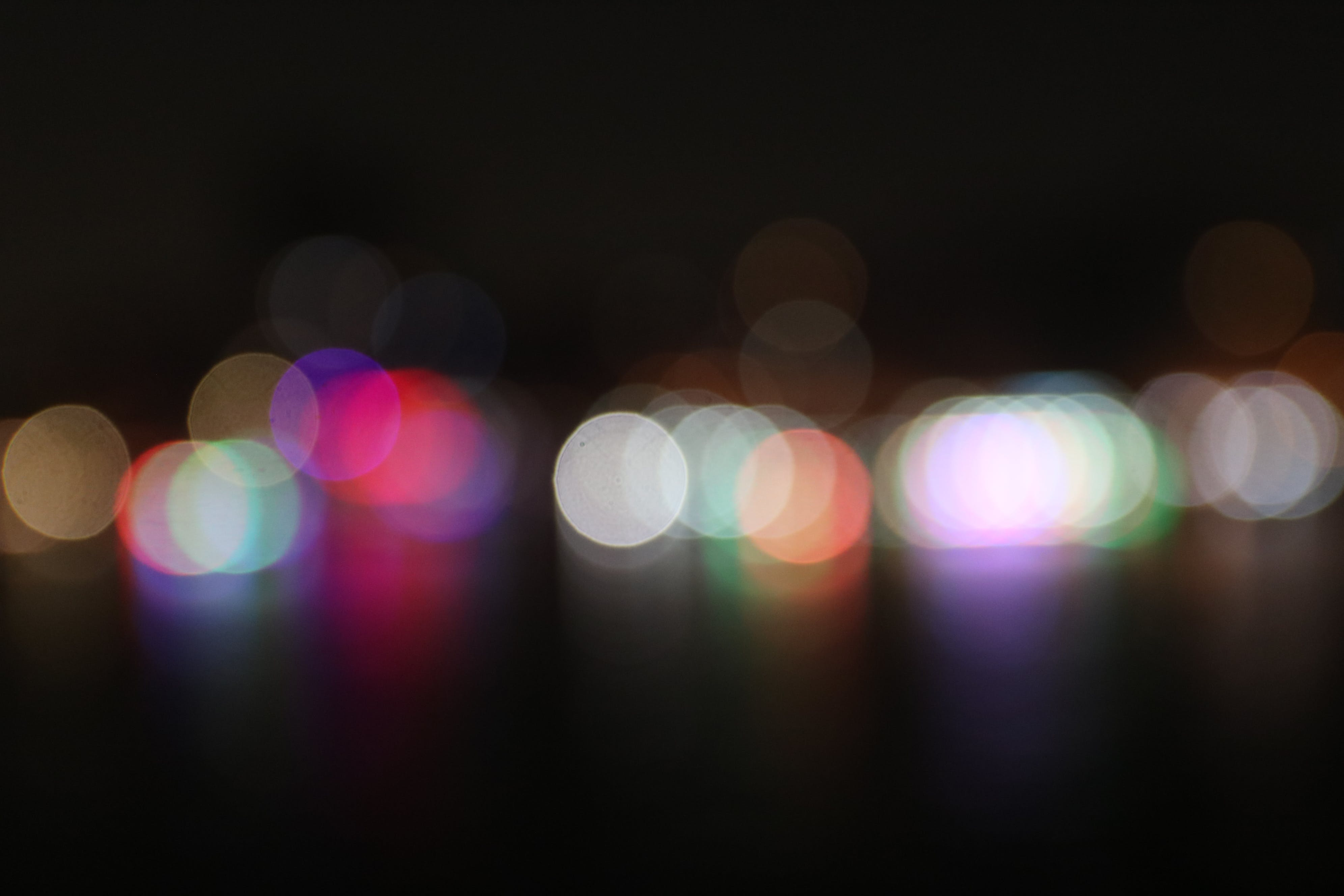 Free stock photo of lights, night, night bokeh