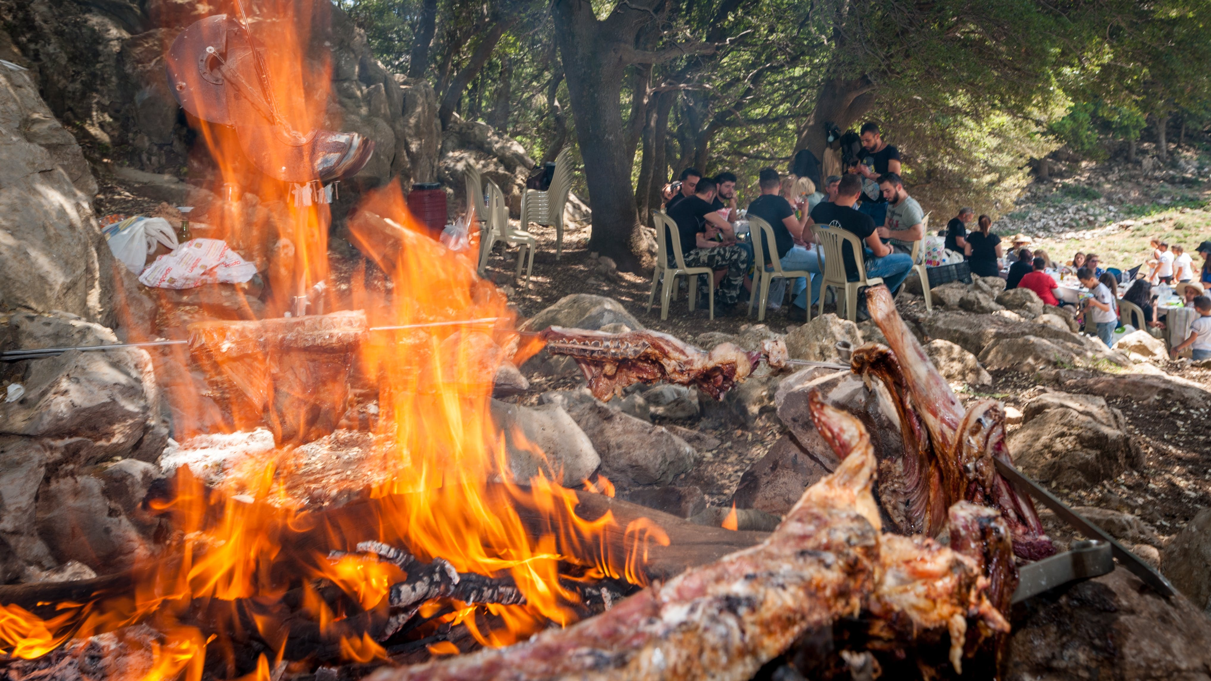 Free stock photo of friends, mountain, cooking, meat