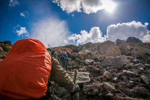 Foto profissional grátis de alpinista, alvorecer, aventura, caminhada