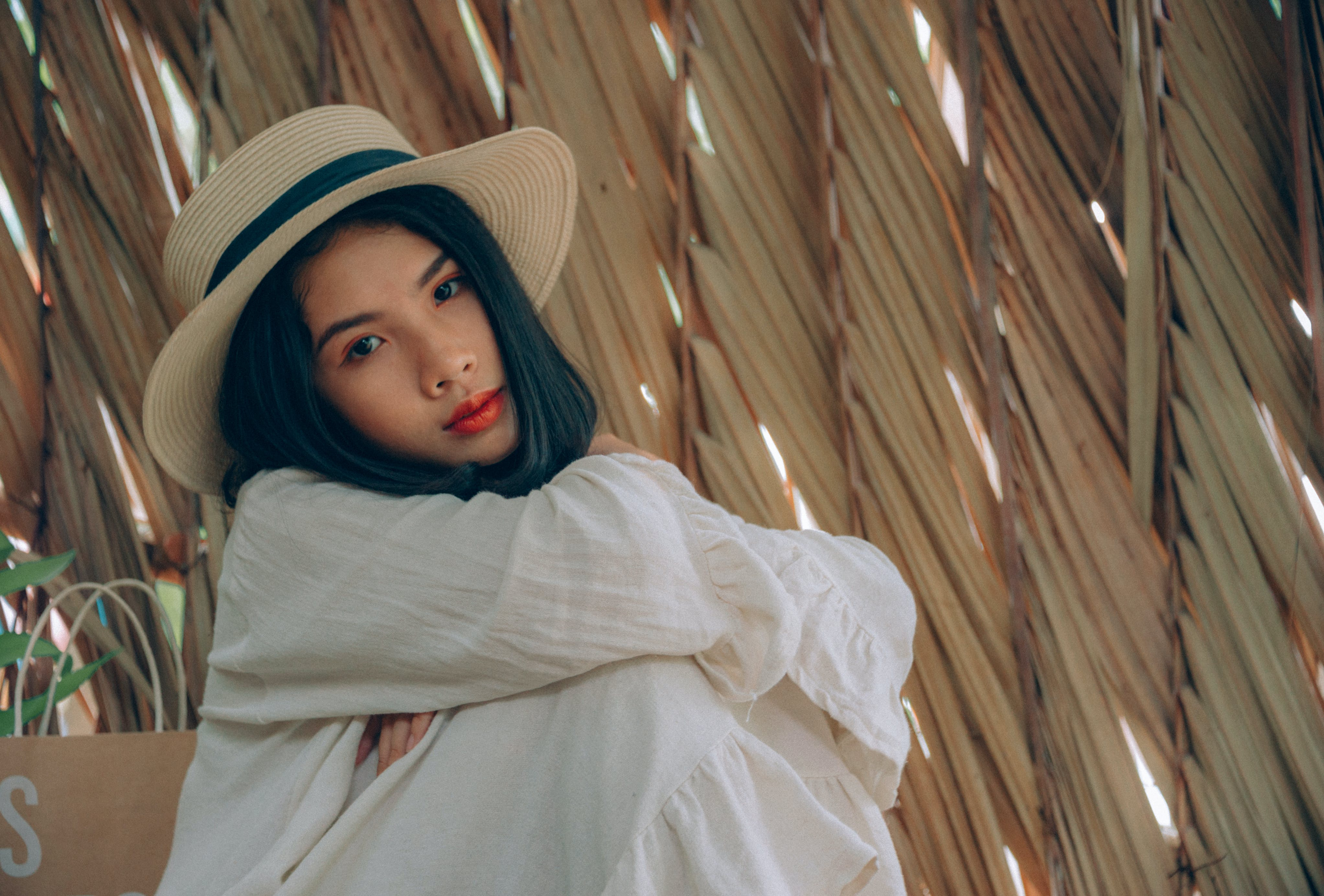 Woman Wearing Brown Hat