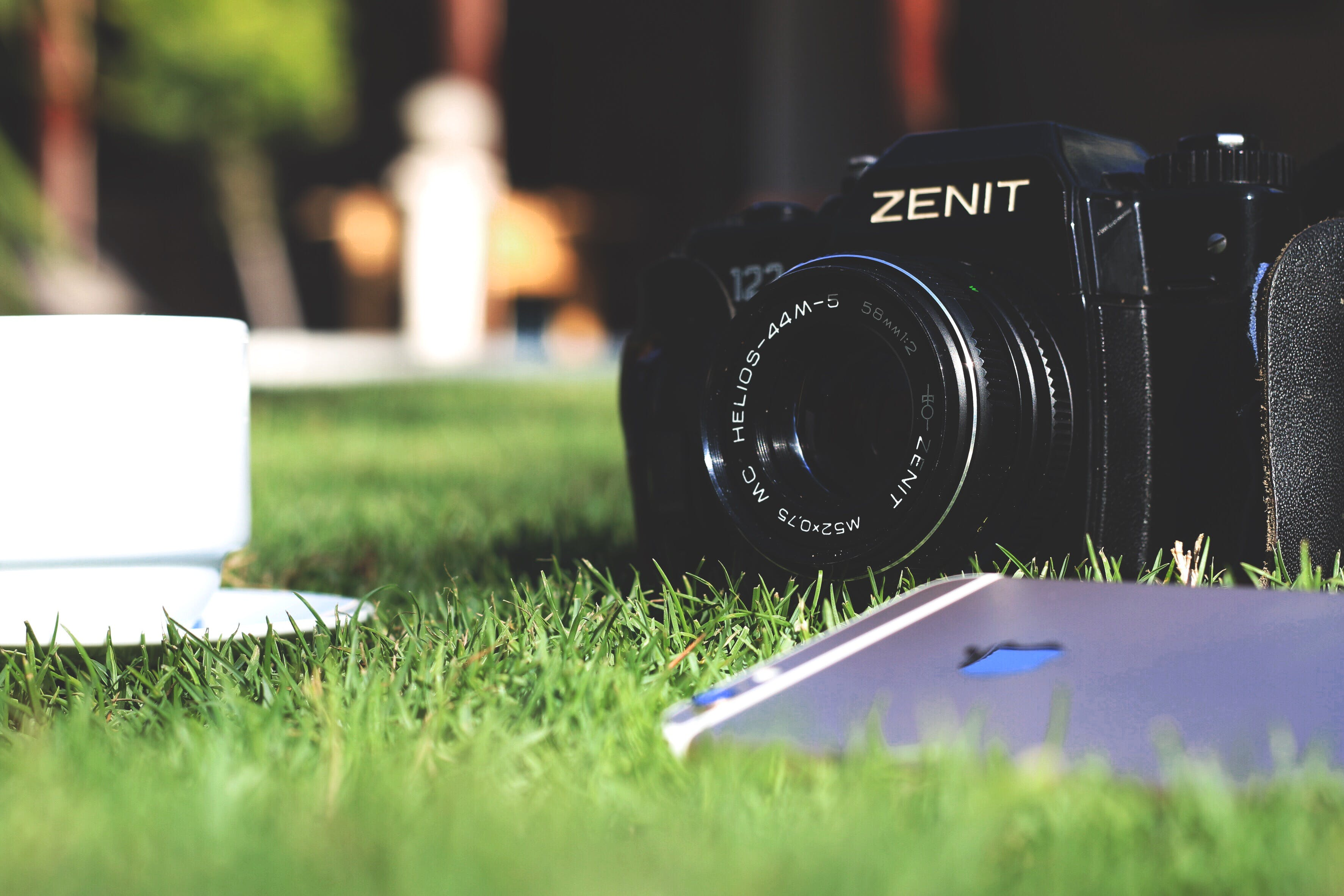 Black Zenit Dslr Camera in Shallow Focus Photography