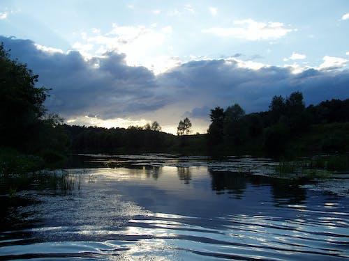 Бесплатное стоковое фото с вечер, вода, голубой