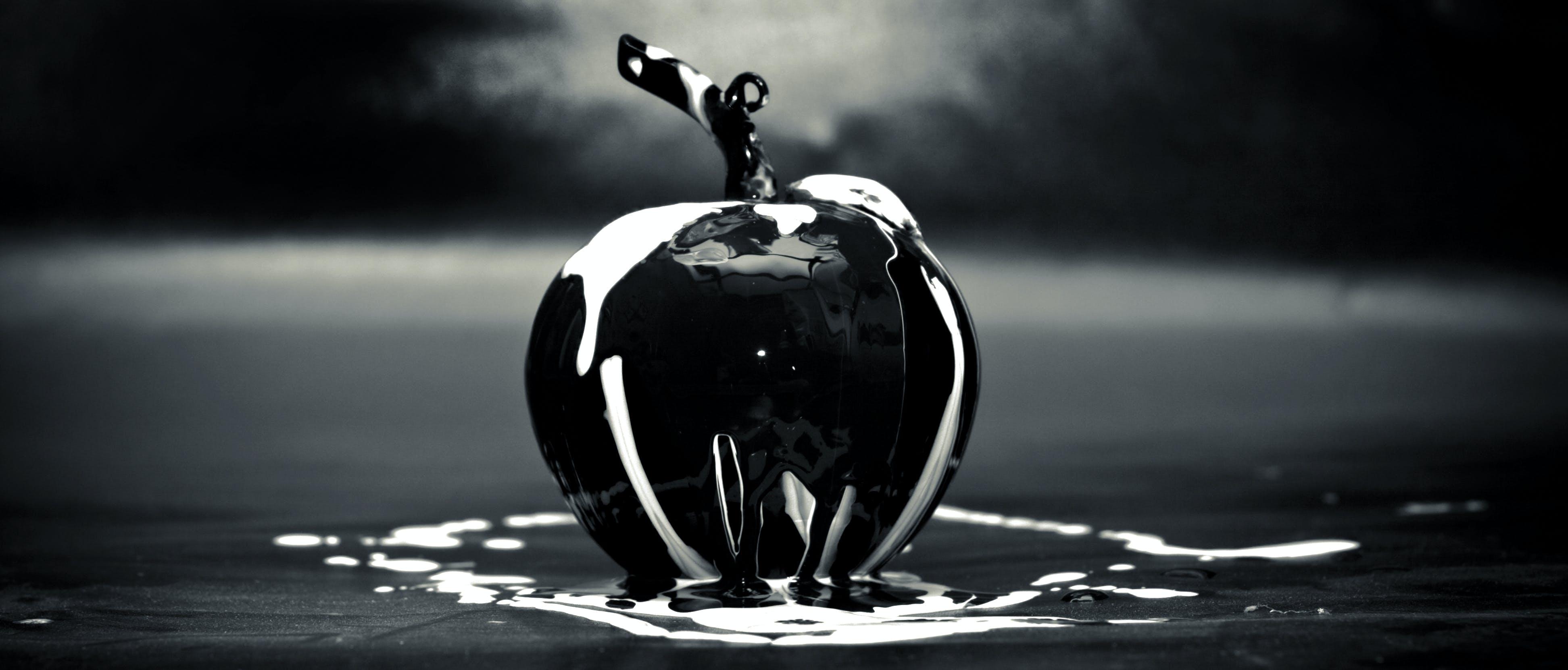 apple, art, black