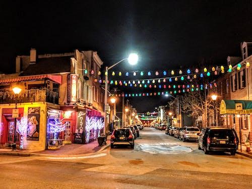 Fotobanka sbezplatnými fotkami na tému baltimore, noc, ulica