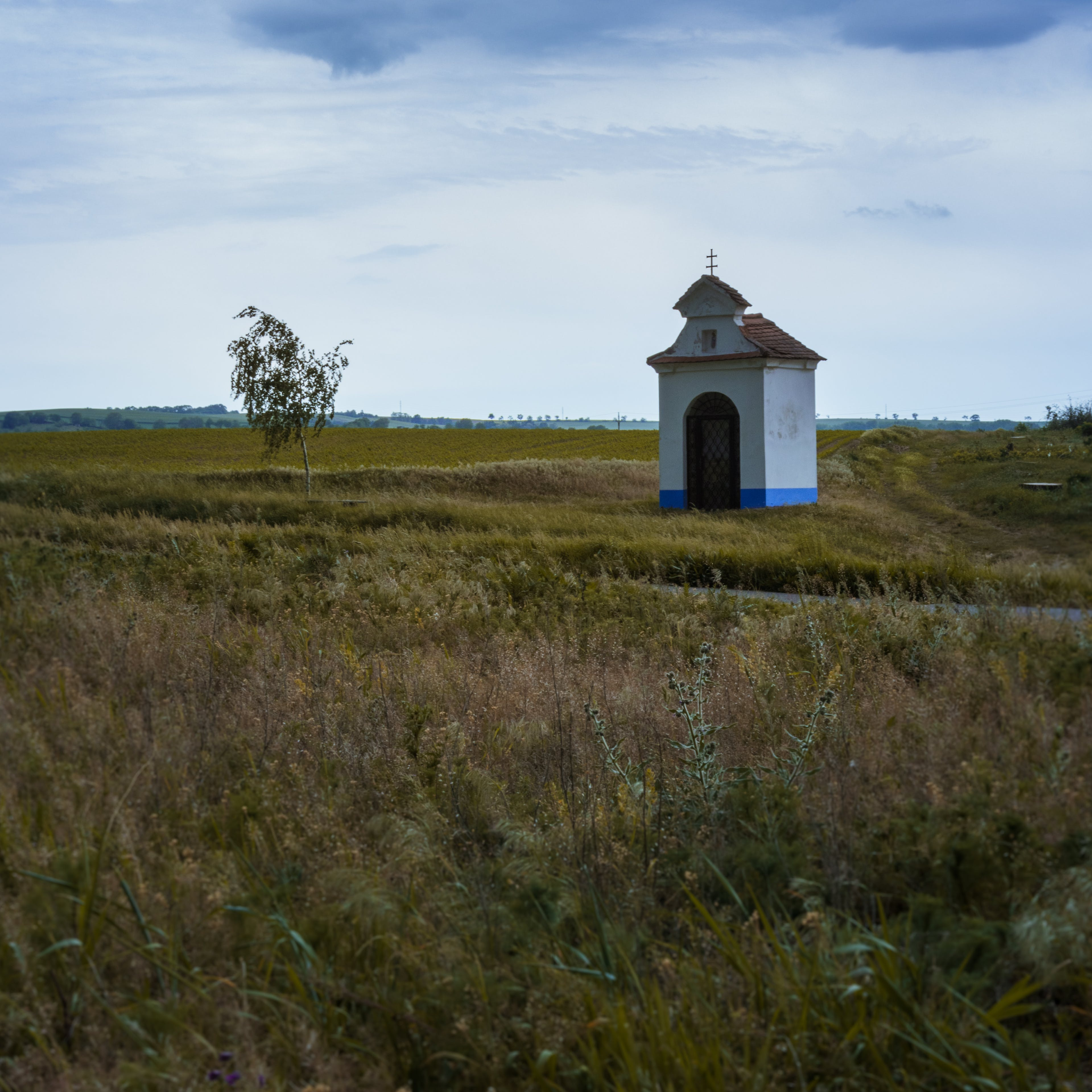 Free stock photo of blue, brown, chapel, clouds