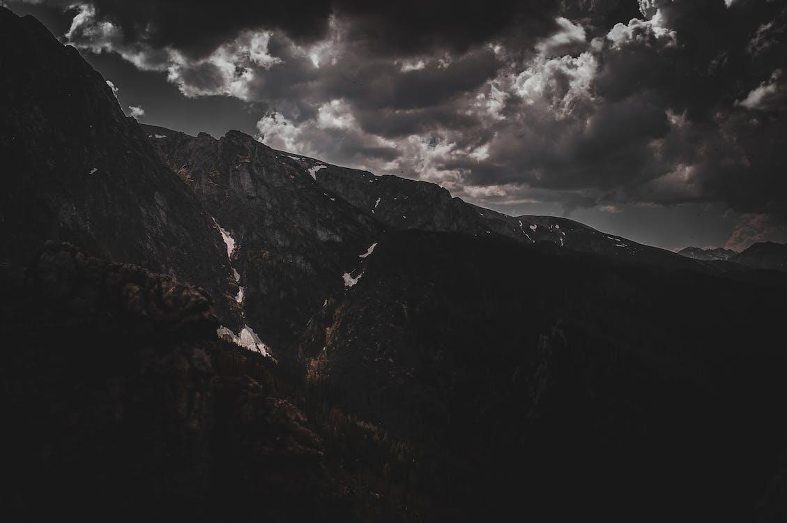 bulutlar, dağ, doğa