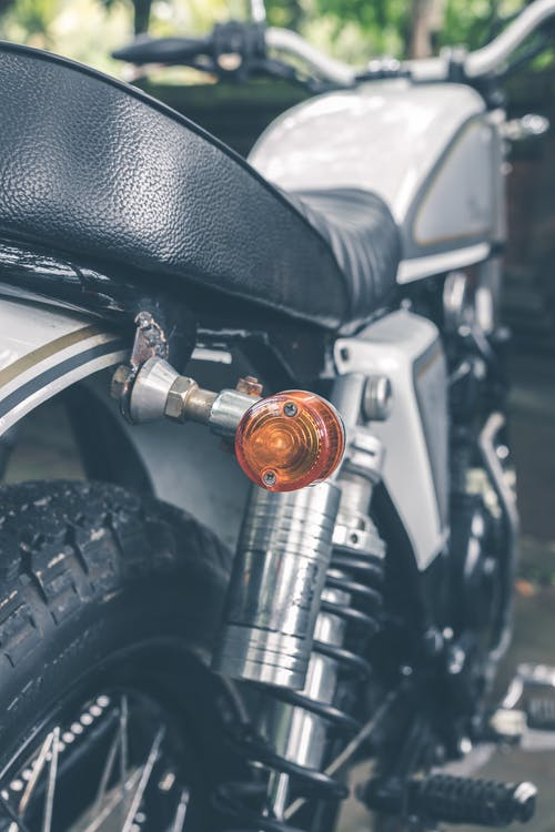 Close-Up Photography of Motorcycle