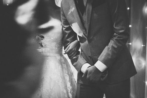 Free stock photo of black and white, bride, Bride and Groom, forever