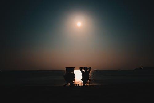 Free stock photo of beach, couple, life, light