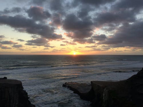 ##日落海灘#波 的 免費圖庫相片