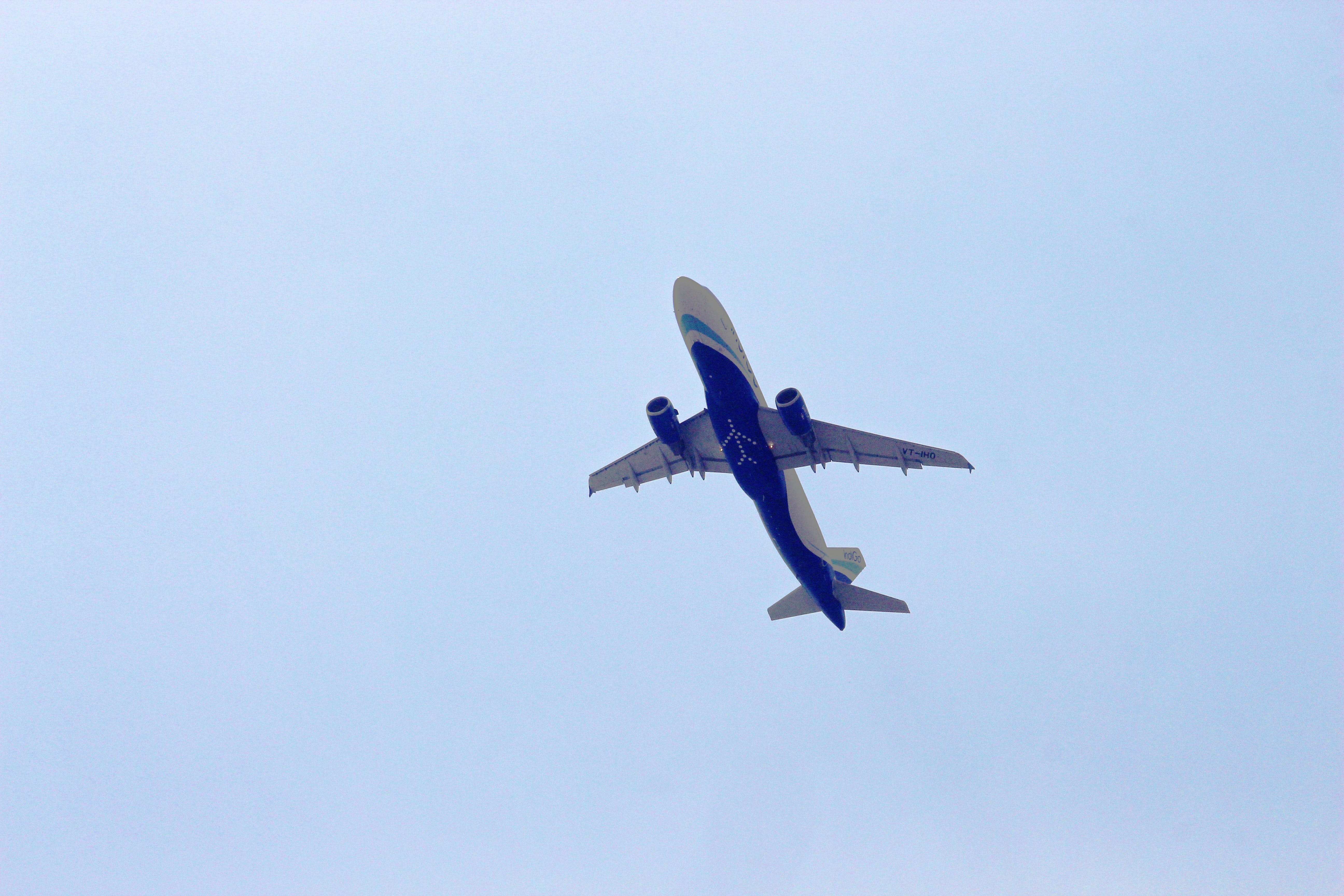 White And Blue Aircraft