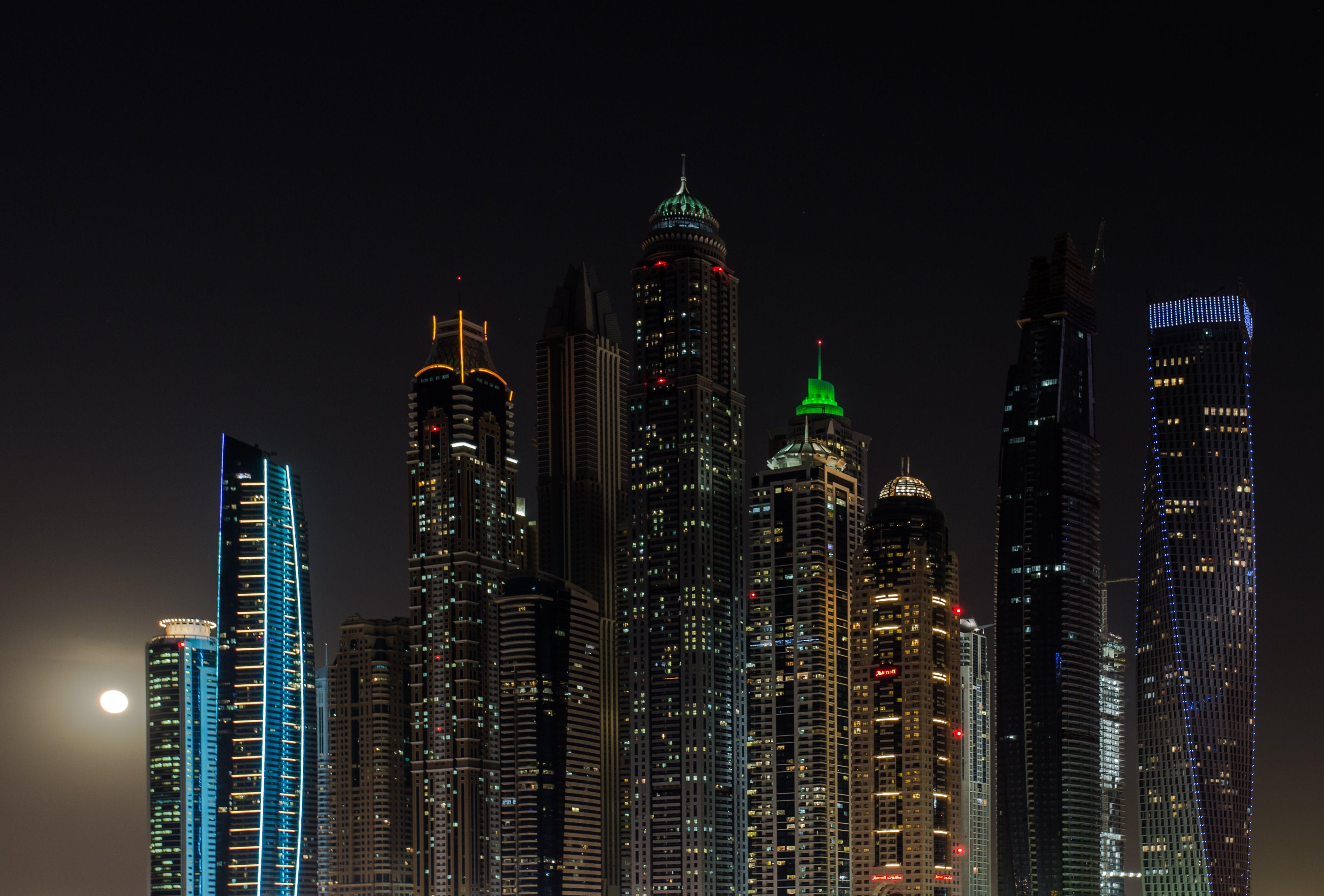 Kostenloses Stock Foto zu stadt, nacht, skyline, gebäude