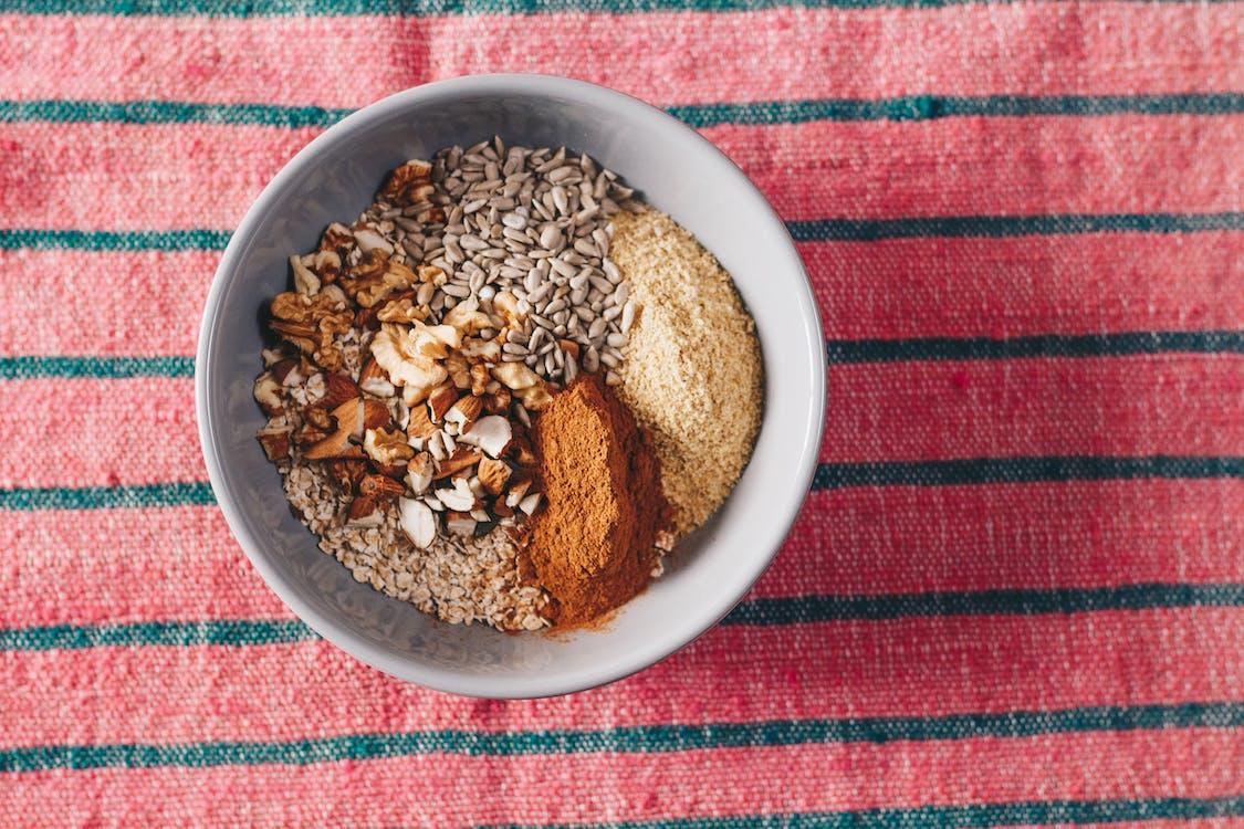 堅果, 燕麥, 營養 的 免費圖庫相片