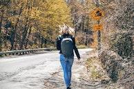 road, woman, girl